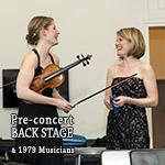 Pre-concert Back Stage